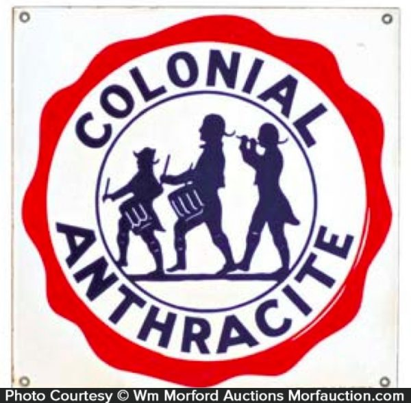 Colonial Anthracite Coal Sign