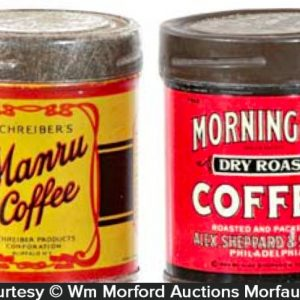 Vintage Coffee Tin Samples