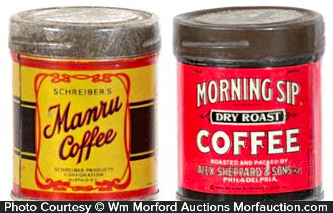 Vintage Coffee Tin Samples