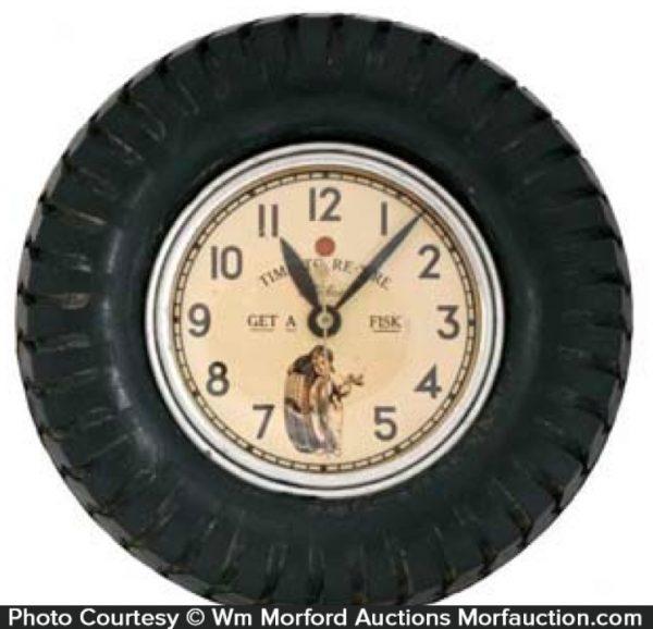 Fisk Tires Clock