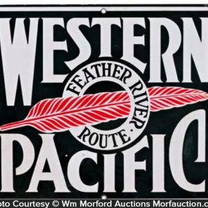 Western Pacific Feather River Sign