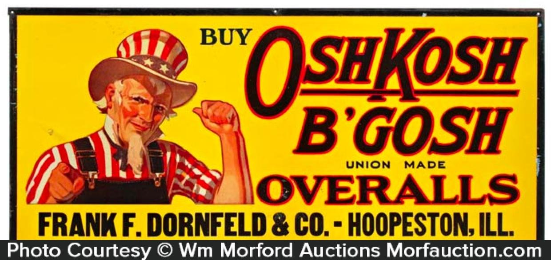 Osh Kosh B'Gosh Overalls Sign