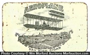Aeroplane Cigar Tin