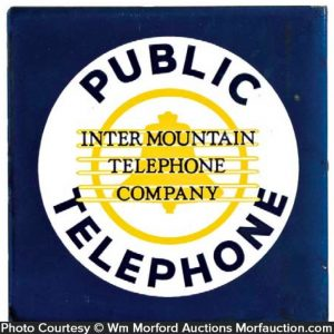Inter Mountain Telephone Sign