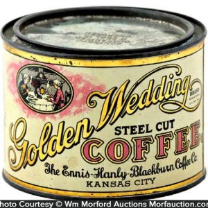 Golden Wedding Coffee Can