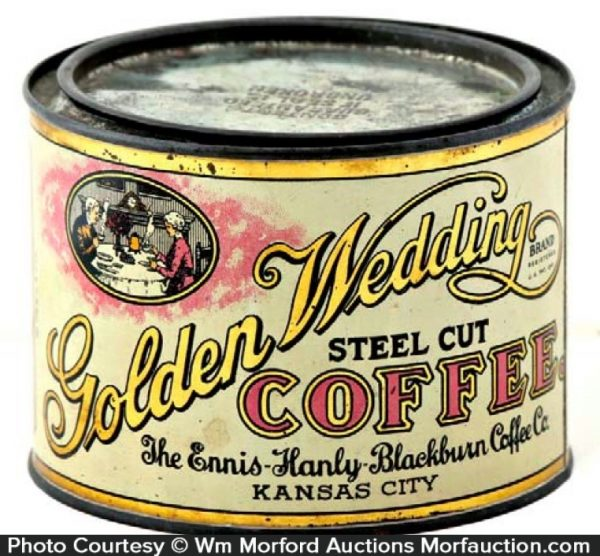 Golden Wedding Coffee Can