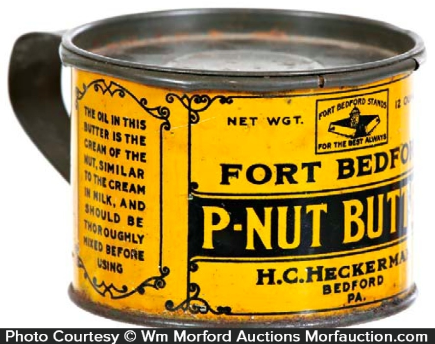 Fort Bedford Peanut Butter Tin