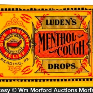 Luden's Menthol Cough Drops Match Holder