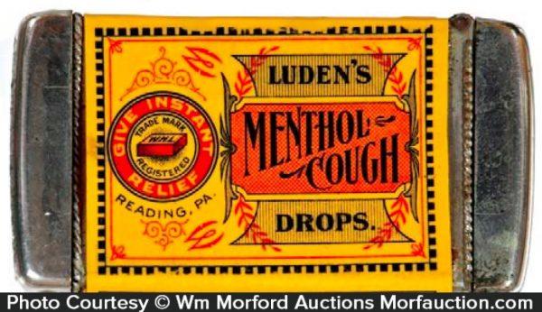 Luden's Menthol Cough Drops Match Holder