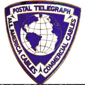 Postal Telegraph Badge