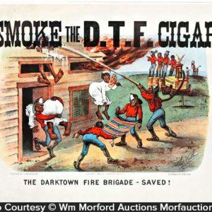 Darktown Fire Brigade Cigar Sign