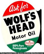 Wolf's Head Motor Oil Sign