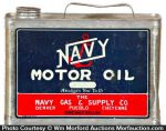 Navy Motor Oil Can