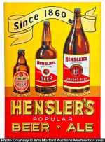 Hensler's Beer Sign