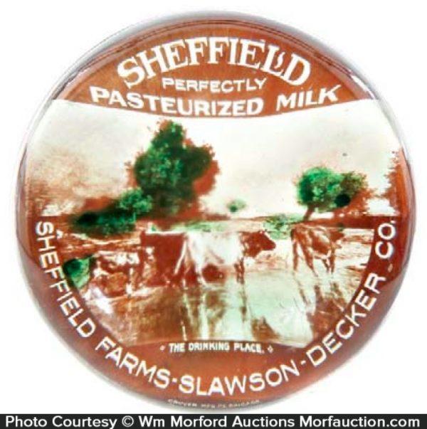 Sheffield Milk Paperweight