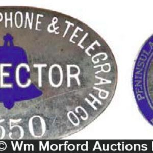 Vintage Telephone Badges