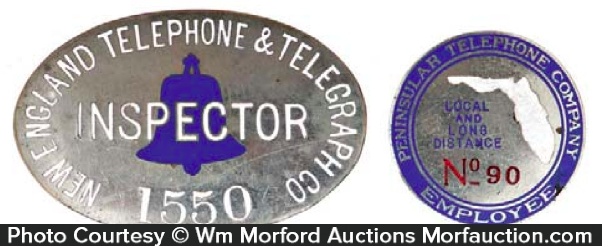 Vintage Telephone Badges