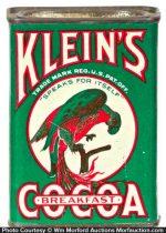 Klein's Cocoa Tin
