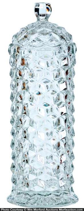 Pressed Pattern Glass Straw Holder