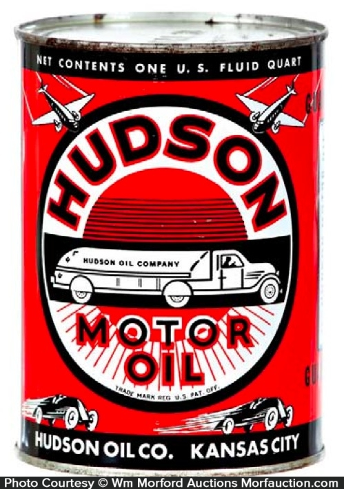 Antique Advertising Hudson Oil Can Antique Advertising