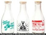 Vintage Sports Theme Milk Bottles
