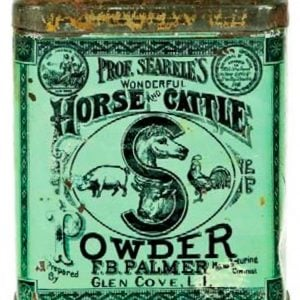 Searele's Horse and Cattle Powder Tin