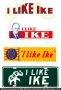 I Like Ike Political License Plates