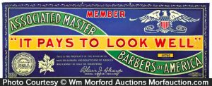 Associated Master Barbers Sign