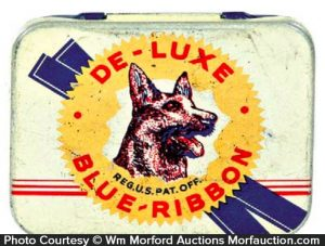 De Luxe Blue Ribbon Condom Tin