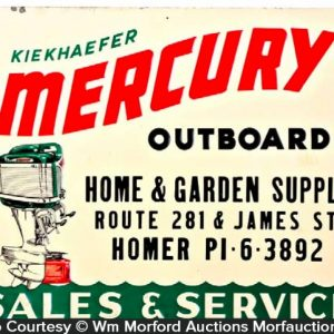 Mercury Outboard Motors Sign