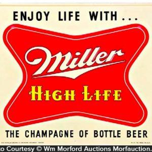 Miller Champagne Of Beer Sign