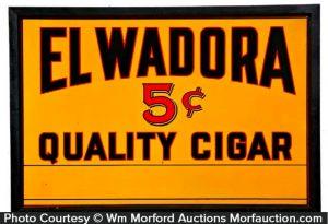 El Wadora Cigar Sign