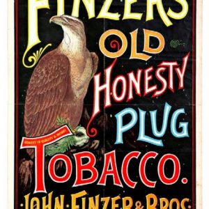 Finzer's Old Honesty Tobacco Sign