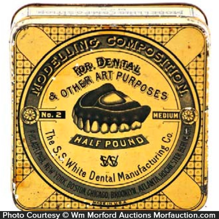 White Dental Tin