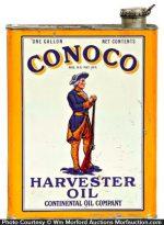 Conoco Harvester Oil Can