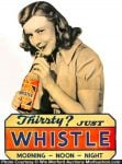 Whistle Soda Sign