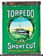 Torpedo Short Cut Tobacco Tin
