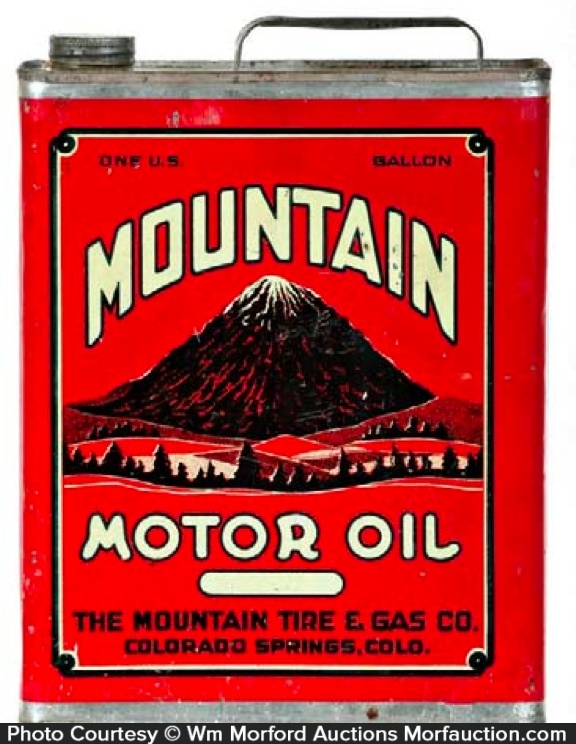 Mountain Motor Oil Can