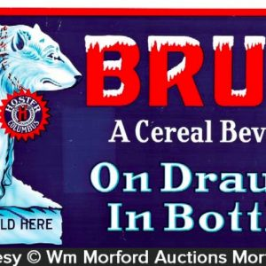 Bruin Cereal Beverage Sign