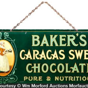 Baker's Caracas Chocolate Sign
