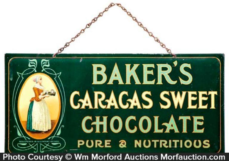 Baker's Caracas Chocolate Sign