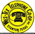 Wes-Tex Telephone Sign