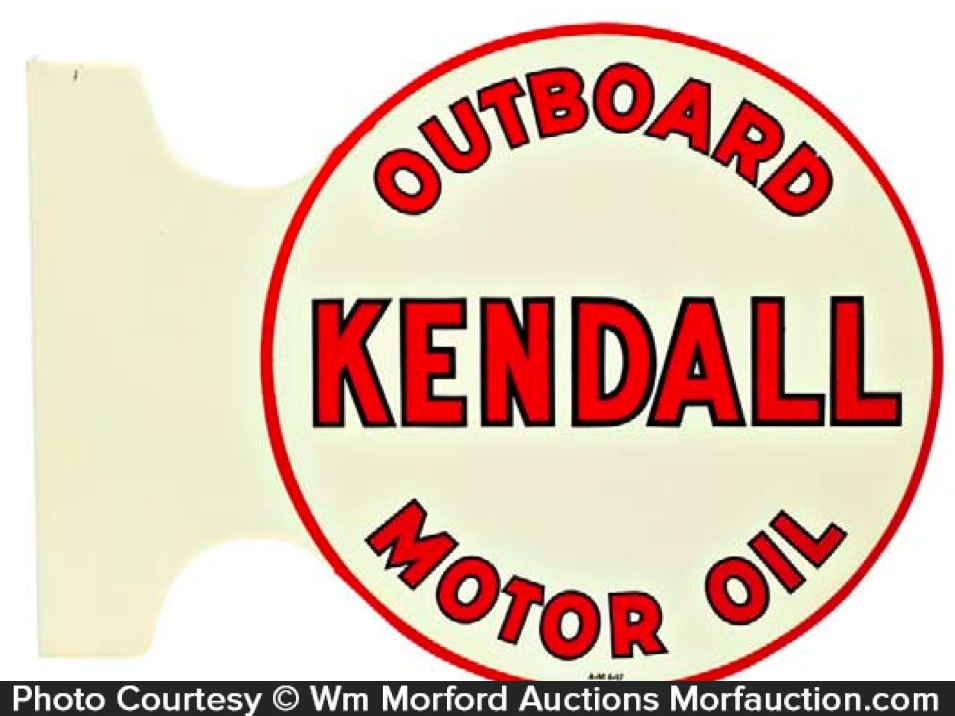 Kendall Outboard Oil Sign