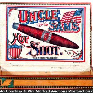 Uncle Sam's Hot Shot Cigar Box