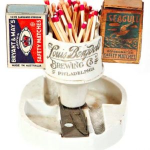Louis Bergdoll Brewing Match Holder