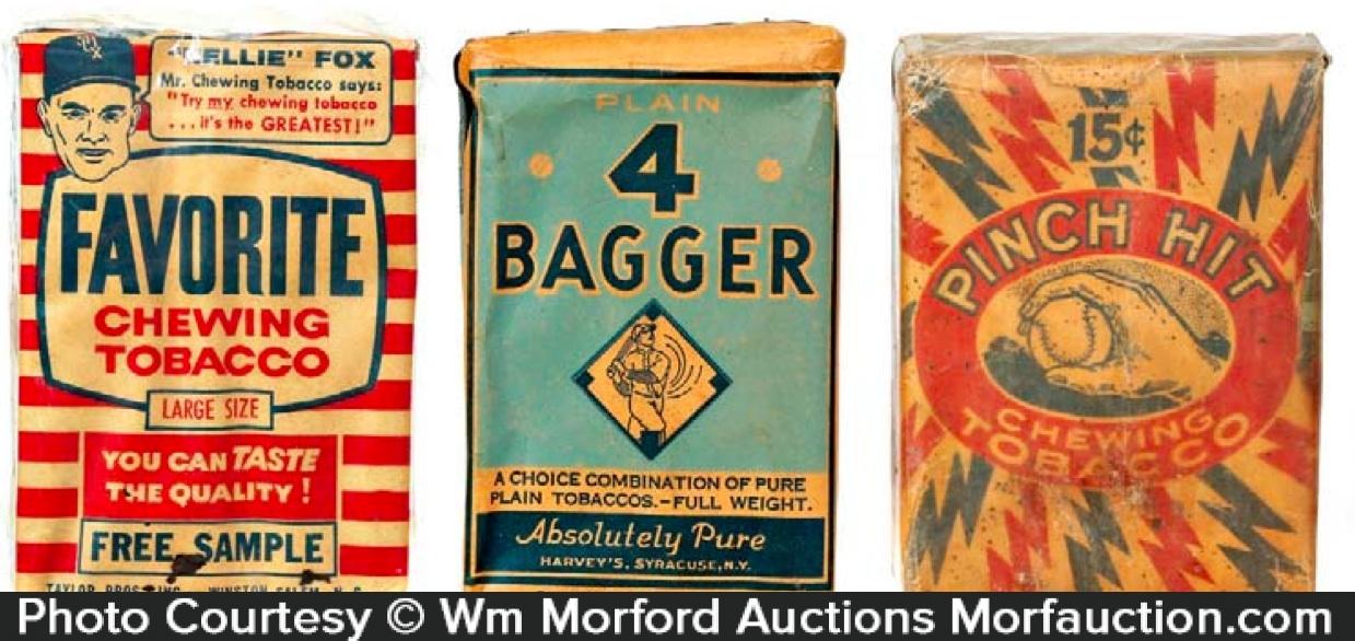 Baseball Tobacco Packs