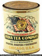 India Tea Company Coffee Tin