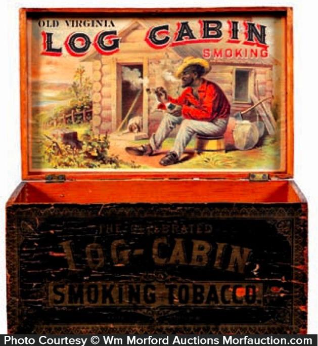 Log Cabin Tobacco Box