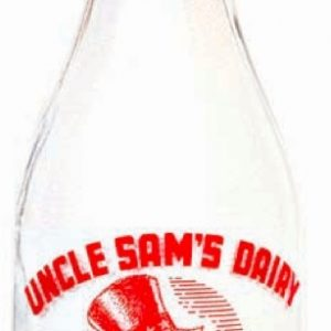 Uncle Sam's Diary Milk Bottle