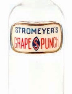 Stromeyer's Grape Punch Bottle